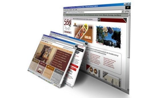 Веб сайты в Интернете