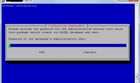 установка пароля администратора в phpmyadmin на debian