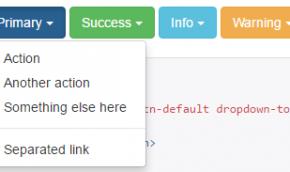 кнопка с выпадающим списком