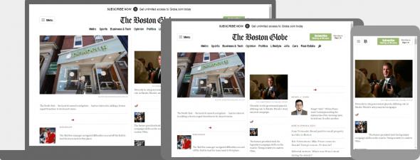 адаптивный макет новостного сайта