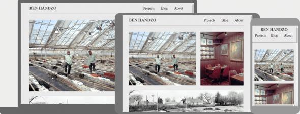 сайт с адаптивными фотографиями