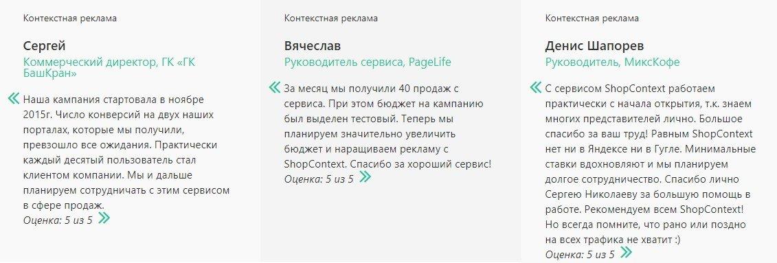 Отзывы о ShopContext